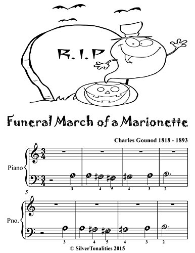 Funeral March of a Marionette Beginner Piano Sheet Music Tadpole Edition  (English Edition)