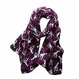 Women Long Scarf,Fashion Women Giraffe Print Pattern Wrap scarf Ladies Shawl Chiffon Scarf Scarves By Kavitoz (Purple)