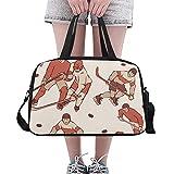 Bolso deportivo para mujer Jugador de esgrima creativo infantil lindo Yoga Bolsos de gimnasia Bolsos de fitness Bolsos de lona Bolsa de zapatos para equipaje deportivo Bolso para mujer al aire libre