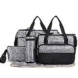 NSHK Mommy Bag Multifunktions-Handtasche Wickel-Tasche 5 Sätze Tasche große Mengen Tasche Einzel-Umhängetasche & Messenger Bag für Baby und Mama, A