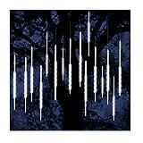 ohCome Meteor Dusche Regen Tropfen Lichter 50cm 10 Spiral Tubes 540 LEDs Wasserdichte Icicle Schneefall String Lichter für Hochzeit Weihnachten Garten Baum Home Decor (Weiß)