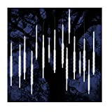 ohCome lluvia de meteoros lluvia gotas luces 50cm 10 tubos espirales 540 LED impermeable Icicle nevadas cadena luces para la boda de Navidad Navidad Halloween Garden Tree Home Decor (Blanco)