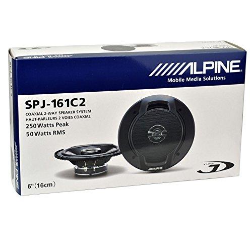 Alpine SPJ-161C2 2WAY Speaker with 250WATTS Peak 50WATTS RMS