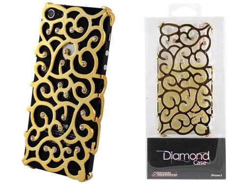 Advanced Accessories Allure Diamant Schutzhülle für iPhone 5/5S, Violett gold