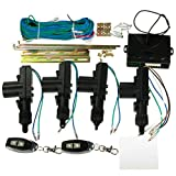 RISHIL WORLD Car 2 or 4 Doors Central Lock Locking Keyless Entry System Kit & Remote Keys Fob