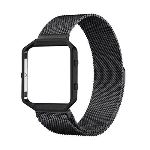 milanese-magnetische-edelstahl-uhrenarmband-watch-strap-metallrahmen-fur-fitbit-blaze-l-black