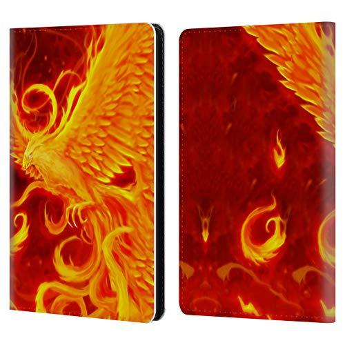 Head Case Designs Offizielle Christos Karapanos Wiederaufstehung Phoenix 3 Leder Brieftaschen Huelle kompatibel mit Kindle Paperwhite 1/2 / 3 - Phoenix Design