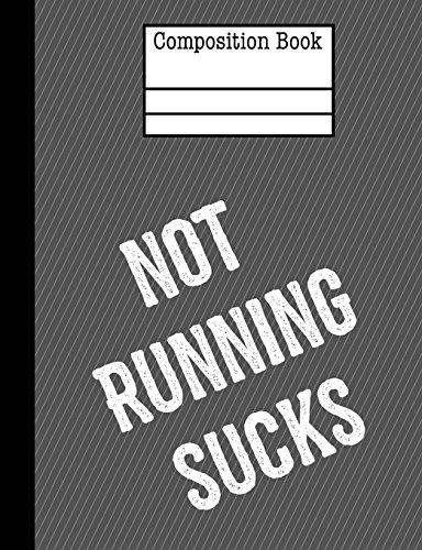 Not Running Sucks Composition Notebook - 4x4 Graph Paper: 200 Pages 7.44 x 9.69 School Student Teacher Subject Math por Rengaw Creations