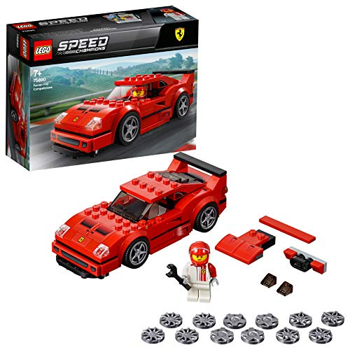 Cerniere Per Ante Ferrari.Lego 75890 Speed Champions Ferrari F40 Competizione Racing Driver Minifigure Building Set Vehicle Toys For Kids Forza Horizon 4 Expansion Pack Model