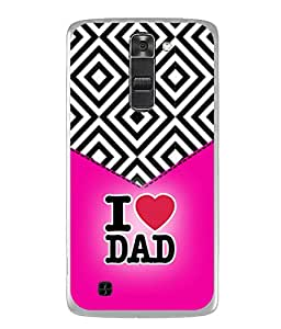 PrintVisa Designer Back Case Cover for LG Stylus 2 (K520DY) (Love You Art Banner Dad Daddy Beautiful Father'S Day)