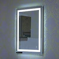 Truefans Espejo de Baño Para Tocador y Espejo Espejo de Baño con Iluminación LED/Espejo de Pared Grande/Espejo de Luz/Espejo Baño 2 Tamaños (600x800mm)