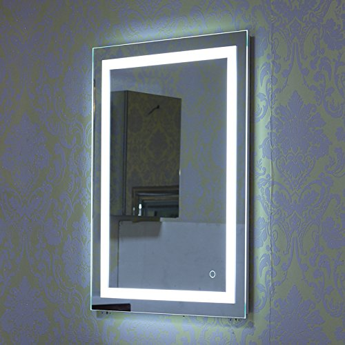 Turefans Wandspiegel LED Badezimmerspiegel Beleuchtet Bad Spiegel 500x700mm/ 600x800mm 22W Kaltweiß A+ (600x800mm) - Make-up-spiegel Beleuchtete Wand