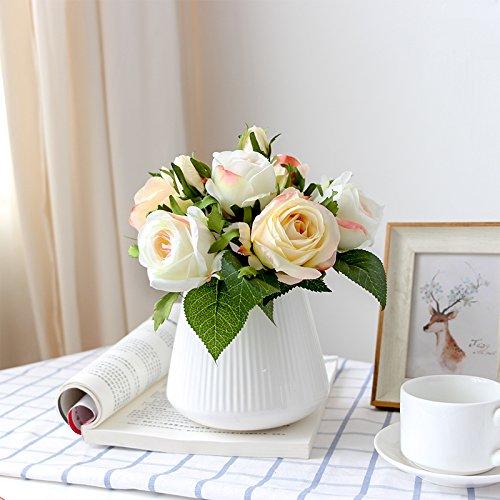 WANG-shunlida Nachahmung Blumenornamenten, künstliche Blumen, Topfpflanzen, North European Home Wohnzimmer, Blumen, Dekorationen, Indoor Esstische, Blumen und Dekorationen, Champagner Anzug