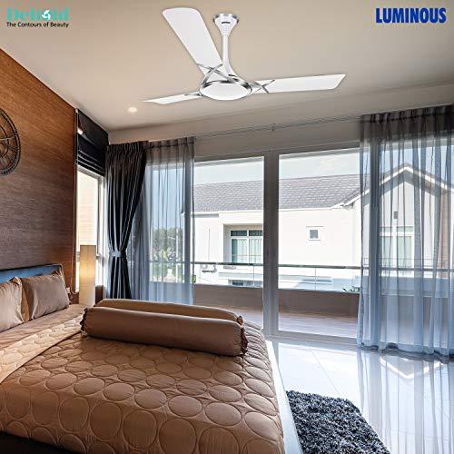 Luminous Deco Premium Deltoid 1200mm Ceiling Fan (Silky White)