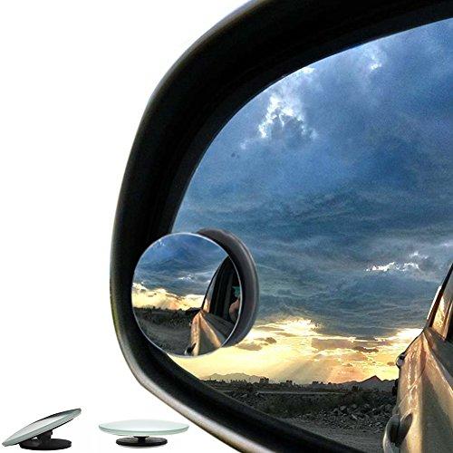 2pcs 50mm Auto Totwinkel Seite konvexen Spiegel Rearview 360 Weitwinkel Einstellbare Runde Randlos Test