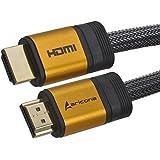 1,5 Meter High End & Highspeed HDMI Kabel 2.0/1.4a mit vergoldeten Steckern und einem Nylon/Alu Geflecht, blanken Kupferleitern (Unterstütz: Full-HD, 3D, Ultra-HD 4K, Ethernet, Audio Return) by aricona - gut und günstig