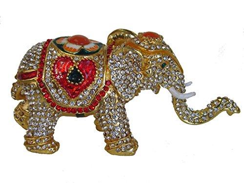 - Cloisonne Elefant Statue mit Stamm bis f?r viel Gl?ck -