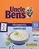 Uncle Ben's Reis-Spezialitäten Basmati-Reis Kochbeutel, 3er Pack (3 x 500 g Karton)
