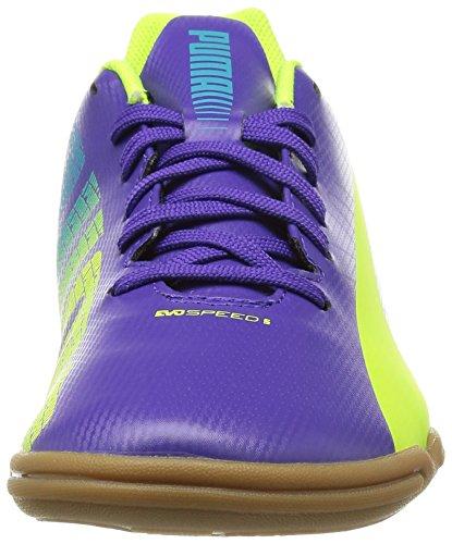 Puma evoSPEED 5.3 IT Jr Unisex-Kinder Hallenschuhe Violett (prism violet-fluro yellow-scuba blue 01)