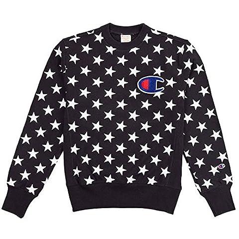Champion Reverse Weave USA Ribb Crew Neck new black Size:S