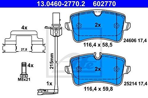 4-teilig Brembo P 24 060 Bremsbelagsatz Scheibenbremse