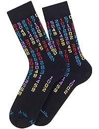 Mi-chaussettes modèle Matrice en coton