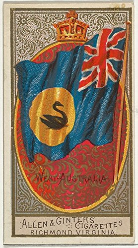 The Poster Corp ' - West Australia from Flags of All Nations Series 2 (N10) for Allen & Ginter Cigarettes Brands Kunstdruck (45,72 x 60,96 cm) - N10-serie