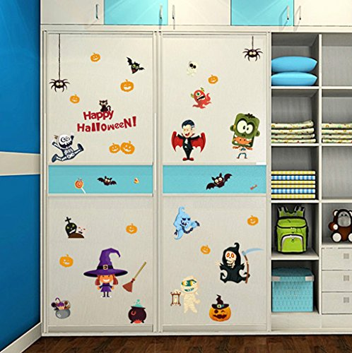 Aoligei Halloween Spuk Haus Zauberer Schrank Dekoration Wandaufkleber