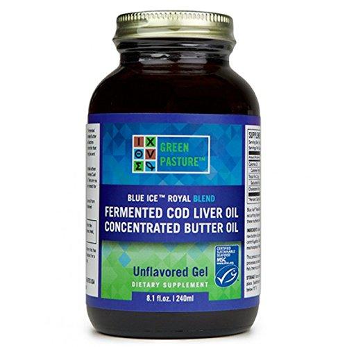Blue Ice Royal Butter Öl & Fermentierter Lebertran Gel Naturel - 240 ml