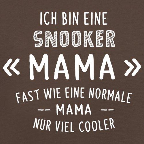 Ich bin eine Snooker Mama - Herren T-Shirt - 13 Farben Schokobraun