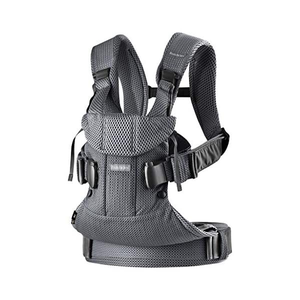BABYBJÖRN Baby Carrier One Air, 3D Mesh, Anthracite, 2018 Edition Baby Bjorn The latest version (2018) with soft and breathable mesh that dries quickly Ergonomic baby carrier with excellent support 4 carrying positions: facing in (two height positions), facing out or on your back 2