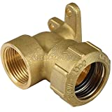Agora-Tec® Messing Fitting Winkel 90 Grad 32 mm auf 1 Zoll IG (30,3mm) für PE-Rohr 32 mm zur Wandmontage