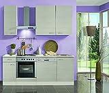 idealShopping Küchenblock ohne Elektrogeräte Como in Pinie Nachbildung 210 cm breit
