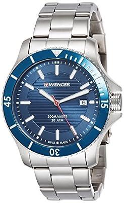 Wenger Wenger Seaforce 01.0643.120 - Reloj de pulsera unisex, Azul/Plata de Wenger