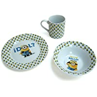 "Minions - Set de desayuno ""Idol?"", color azul (United Labels 811757)"