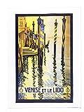 Venise et le Lido (Venedig Lido)-Retro Style Poster,