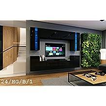 Wohnwand FUTURE 24 Moderne Exklusive Mediambel TV Schrank Neue Garnitur