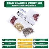 KINDEN Vakuumierer Vakuumiergerät Folienschweißgerät LebensmittelVersiegler mit Heizspule inkl. 15 Vakuumbeutel - 2