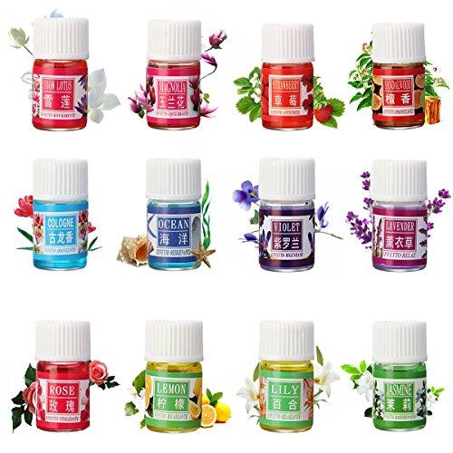 Ätherisches Öl, LuckyFine Aromaöl Release Stress Angst und Beseitigung von Schlaflosigkeit und Kopfschmerzen 3 ml X 12 Set