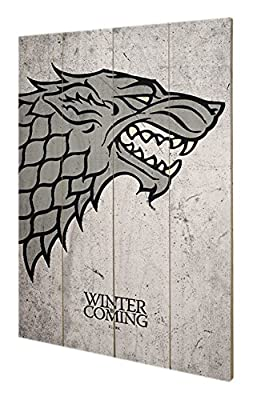 Pyramid International sw11384p Game of Thrones (forte) de murale en bois art, bois, multicolore, 40 x 2,5 x 59 cm
