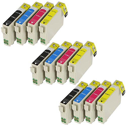 Galleria fotografica 12XL cartucce per stampante con Chip e Indicatore di livello inchiostro per Epson Expression Home XP-102, XP-202, XP-205, XP-212, XP-215, XP-225, XP-30, XP, XP-305, XP-312, XP-315, XP-322, XP-325, XP-402, XP-405, XP-405WH, XP-412, XP-415, XP-422, XP-425
