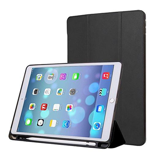 XIHAMA Case für iPad 9.7, PU-Leder-Trifold-Ständer mit Stiftschlitz, Auto-Sleep / Wake-Funktion, Vollschutz-Silikon-Rückteil