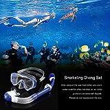 Lorenlli Equipo de Buceo de Snorkeling Profesional Equipo de Vidrio Templado antivaho Tubo de respiración Completamente seco antivaho Gafas subacuáticas