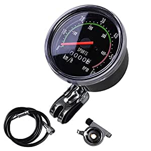 MakeTheOne Analog Speedometer Odometer Classic Style for Exercycle & Bike