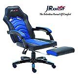 Jr caballero silla ergonómica de juego con reposapiés, profesional jugador de...