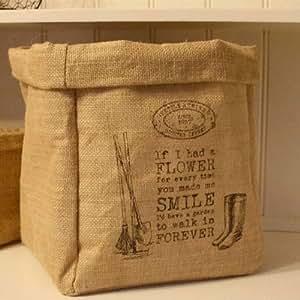 l gumes en toile de jute vintage sac oignons sac de rangement pour pommes de terre en toile de. Black Bedroom Furniture Sets. Home Design Ideas