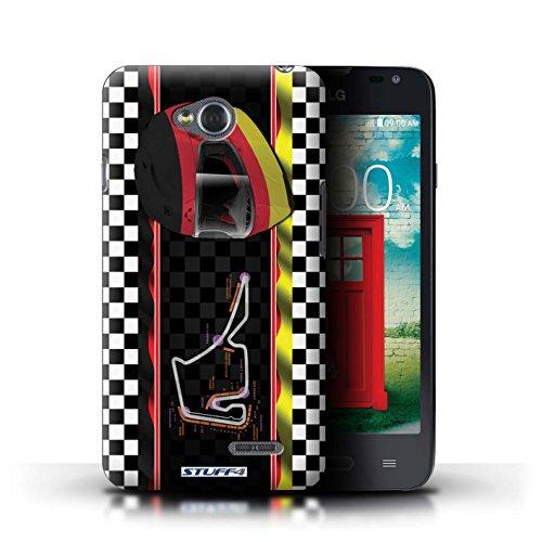 Kobalt® Imprimé Etui / Coque pour LG L65/D280 / Brésil/SãoPaulo conception / Série F1 Piste Drapeau Allemagne