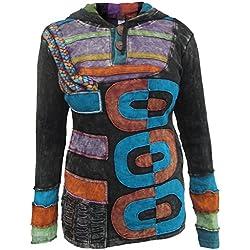LITTLE KATHMANDU - Sudadera con capucha - Jersey - para mujer multicolor multicolor 36