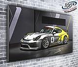 Porsche Cayman GT4Sport Supercar Panorama Leinwandbild XXL Bild 127x 50,8cm über 4Fuß breit x 1,5Fuß hoch fertig zum Aufhängen Atemberaubende Qualität