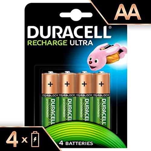 Duracell Batterie Recharge Ultra AA, Confezione da 4